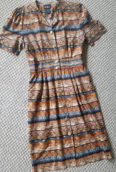 Positive Attitude Dresses & Skirts - VTG Positive Attitude Southwestern Print Dress